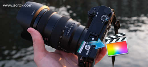 Sony a6100 FCP X - Convert Sony a6100 XAVC S to ProRes for FCP X